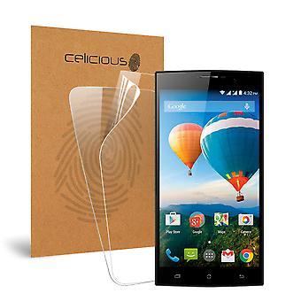 Celicious Vivid Invisible Glossy HD Screen Protector Film Compatible with Archos 62 Xenon [Pack of 2]