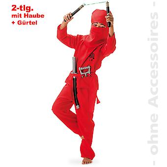 Red Ninja warriors shadow fighter child costume