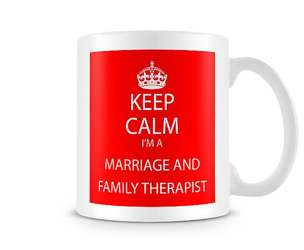 Keep Calm Im A Family Therapist Printed Mug Printed Mug