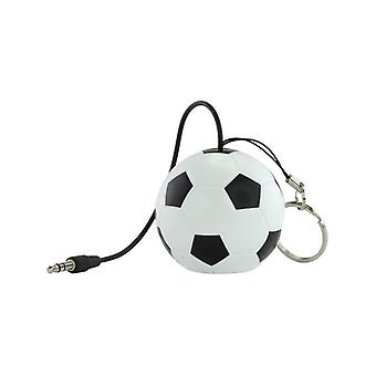 KITSOUND Speakers Football white 3, 5 mm is possible to daisy chain