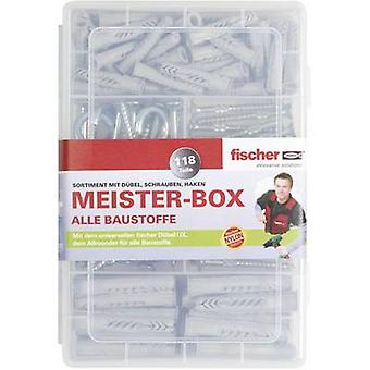 Fischer UX-R 513894 Meister-Box with dowels, screws, round and angular hooks 118 parts