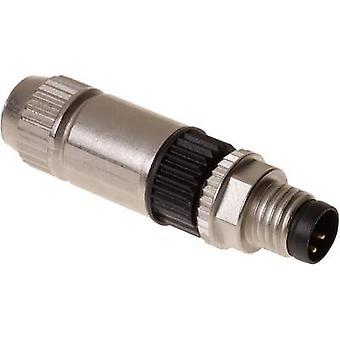 Sensor/actuator connector M8 Plug, straight No. of pins (RJ): 4