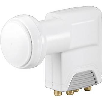 Goobay Universal Quattro LNB No. of participants: 4 LNB feed size: 40 mm gold-plated terminals