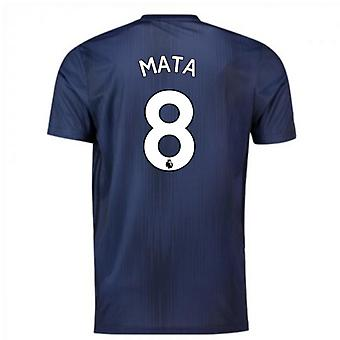2018-2019 Man Utd Adidas Third Football Shirt (Mata 8)
