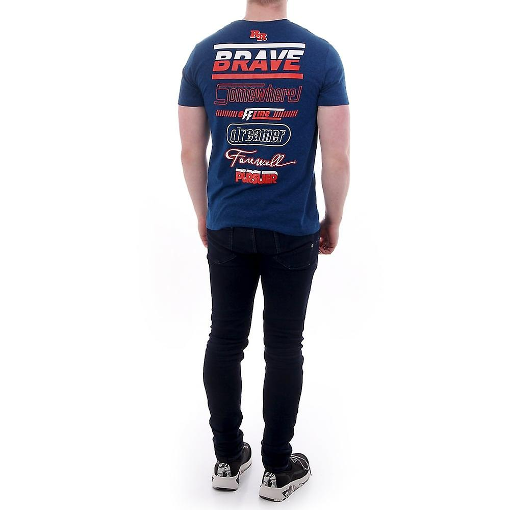 Diesel Tee Shirt With Braves Head On The Back