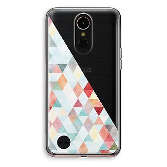 LG K10 (2018) Transparent Case (Soft) - Coloured triangles pastel