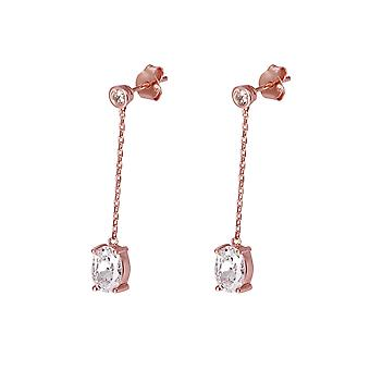 Orphelia Silver 925 Earring Rose with Middlestone - ZO-7419