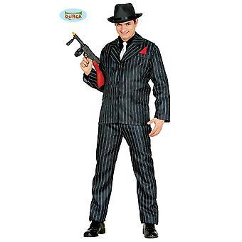 Gangster mafia passer Pinstripe Al Capone kostyme for menn Carnival