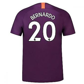 2018-2019 رجل المدينة الثالثة نايكي لكرة القدم قميص (برناردو 20)