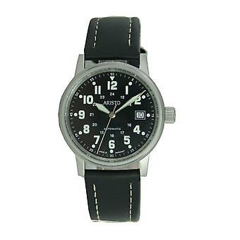 Aristo mens watch wristwatch pilot's watch automatic leather 3 H 11