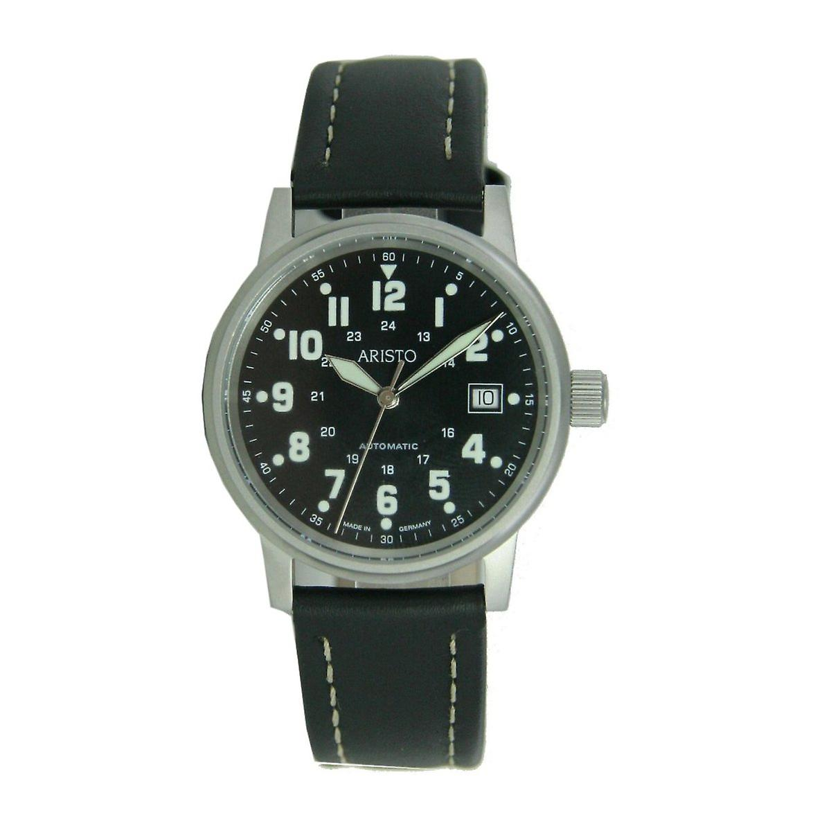 Aristo mens watch wristwatch pilot's watch automatic leather 3 H 11