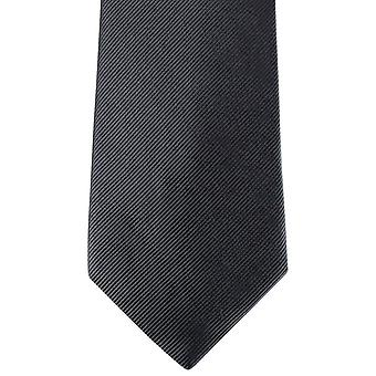 David Van Hagen Diagonal Ribbed Tie - Slate Grey