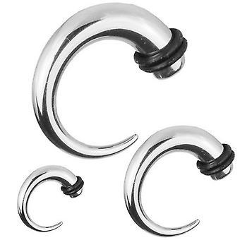 Expander crochet cône civière, Piercing, bijoux de corps d'oreille | 1, 6 - 8 mm