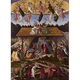 Mystic Nativity, Sandro Botticelli, 40x60cm with tray