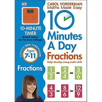 10 Minutes a Day Fractions by Carol Vorderman - 9780241182321 Book