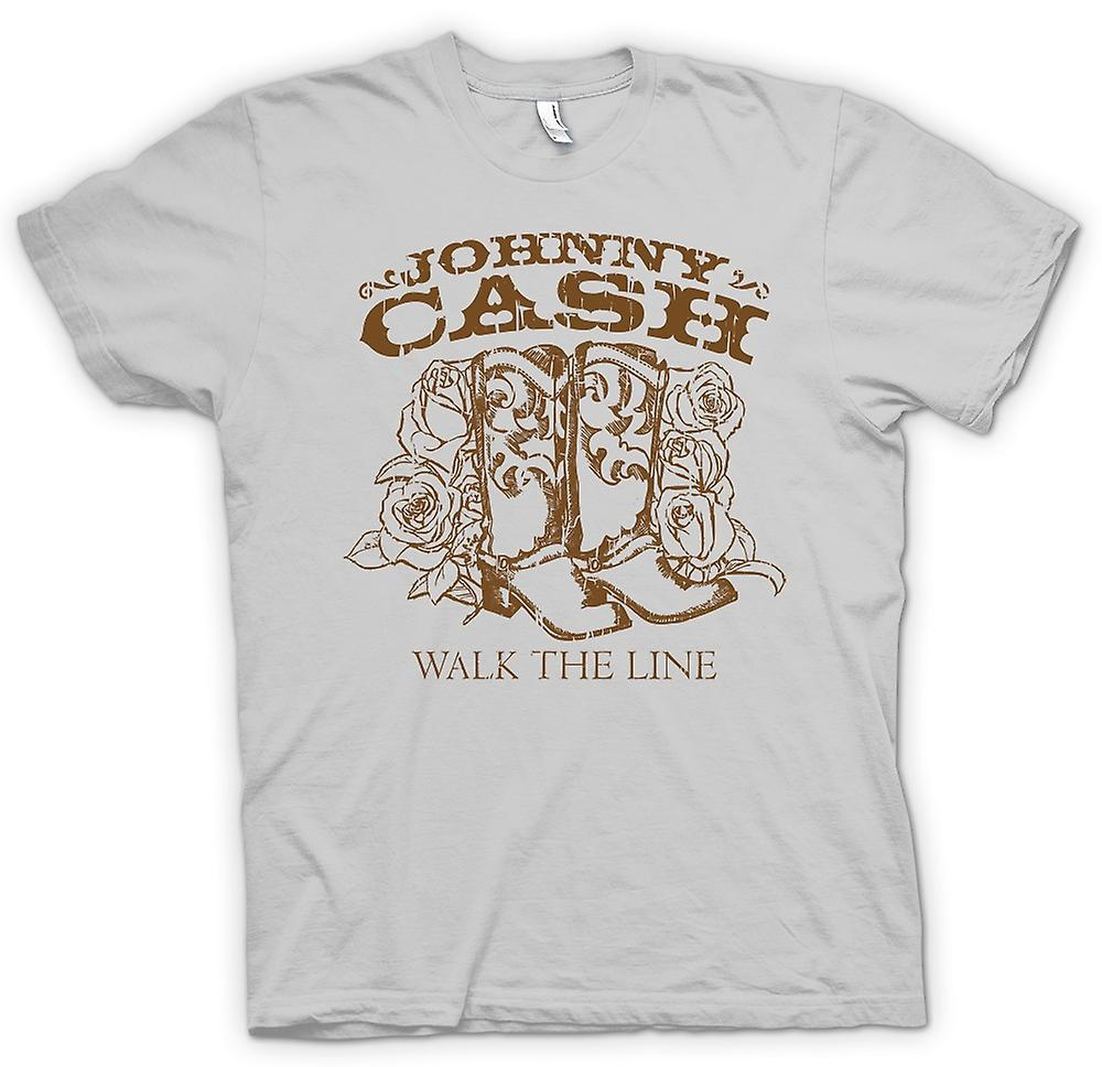 Herren T-Shirt - Johnny Cash - Walk The Line