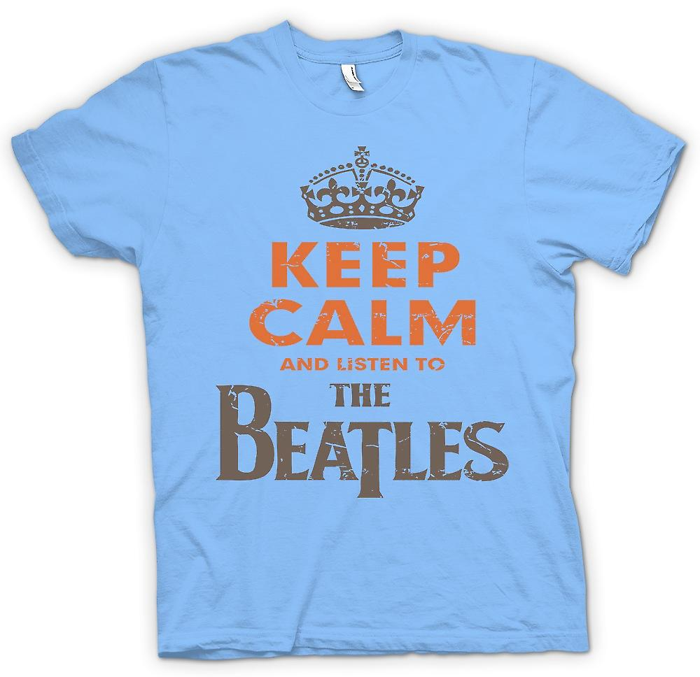 Mens T-shirt - Keep Calm And Listen To The Beatles