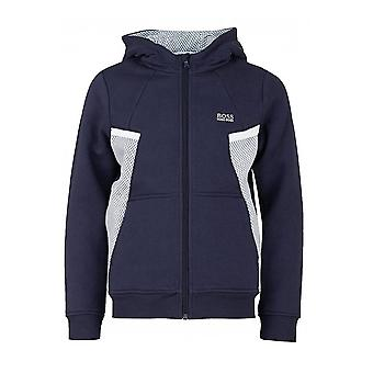 Hugo Boss Boys Hugo Boss Kids Navy Blue Hooded Tracksuit