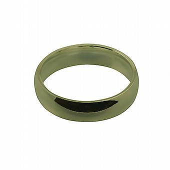 9ct Gold 6mm plain Court shaped Wedding Ring Size Z