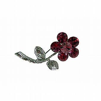 Rose Pink simuliert Kristalle Silberton Rosa Kleid Brosche Pin
