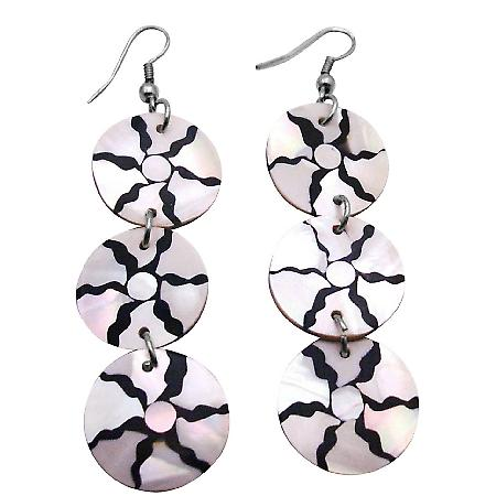 Forefront Of Fashion Glamorous Shell Dangling Christmas Gift Earrings
