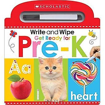 Schreiben und wischen Sie Get Ready for Pre-K (Scholastic frühen Lerner) [Pappband]