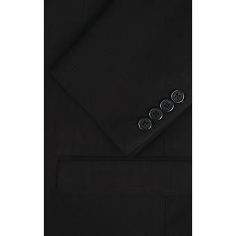 Добелл Mens черный пиджак тонкий подходят путешествия/производительность Notch петличный