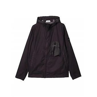 Stone Island Junior Stone Island Junior Plum Lightweight Hooded Jacket