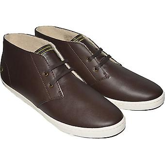 Byron Fred Perry masculino meados couro sapatos B7434-325