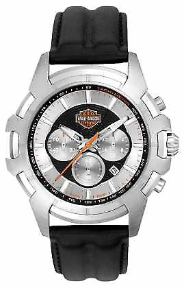 Harley Davidson Mens Black And Silver Spider Web Design 76B161 Watch