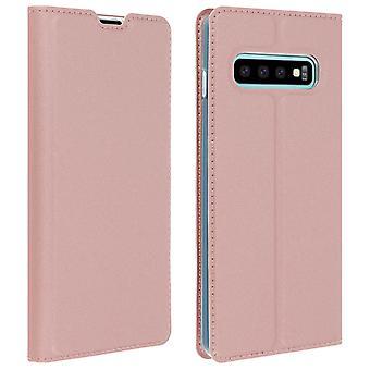 Slim flip wallet case, Business series for Samsung Galaxy S10 - Rose gold
