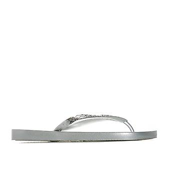 Womens Ipanema Glam Flip Flops In Silver
