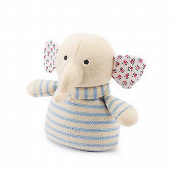 Knitted Animal Warmer Microwavable Toy: Elephant