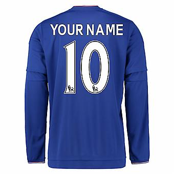 2015-2016 Chelsea Home Long Sleeve Shirt (Your Name) -Kids
