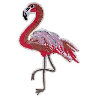 Cotton Flamingo Iron On Patch