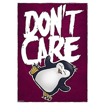 Psycho Penguin Don't Care Mini Poster