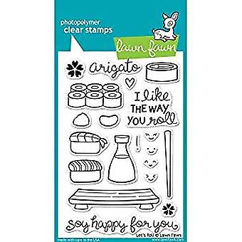 Lawn Fawn Let's Roll Clear Stamps (LF606)