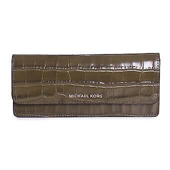 Michael Kors Geld Stücke Krokodil-geprägte Leder - flache Wallet - Olive - 32F7GF6F2E-333