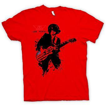 Mens t-shirt-Aerosmith - Joe Perry - chitarra