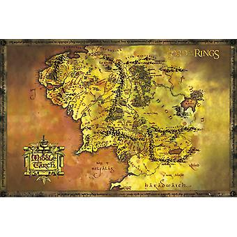Lord Of The Rings Classic Map Maxi Poster 61x91.5cm