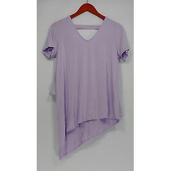 Lisa Rinna Collection Women's Top V-Neck Chiffon Purple A303168