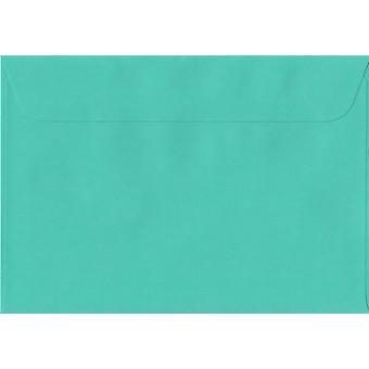 Emerald Green Peel/tätning C5/A5 färgade gröna kuvert. 100gsm schweiziska Premium FSC-papper. 162 mm x 229 mm. plånbok stil kuvert.