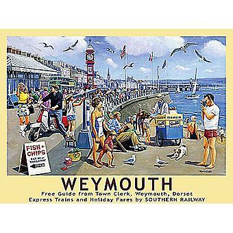 Weymouth, Dorset, pequeno sinal de Metal 200 x 150 mm (og)