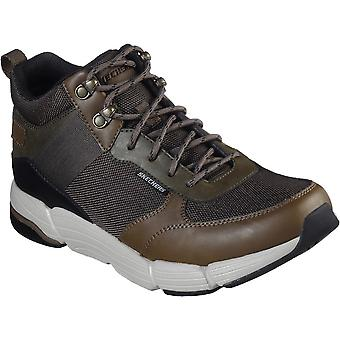 Skechers Mens Metco Mid Top Lace Up Leather Walking Boots