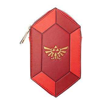 Zelda Coin Monedero GemA Saped Hyrule Crest Logo nuevo Oficial Nintendo Rojo