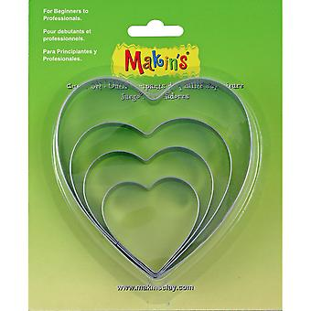 Makin's Clay Cutters 4/Pkg-Heart M365-03