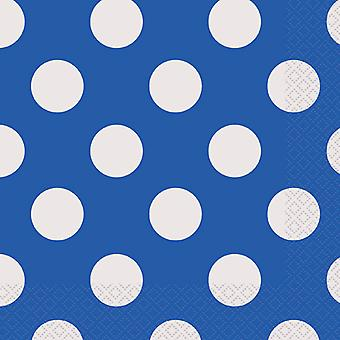 Luncheon Napkins 16 Pkg Royal Blue Decorative Dots Lnpk 30429