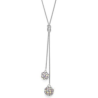 Crystal Mesh Ball Pendant Necklace PMB112.4