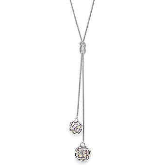 Crystal Mesh Ball Anhänger Halskette PMB112.4