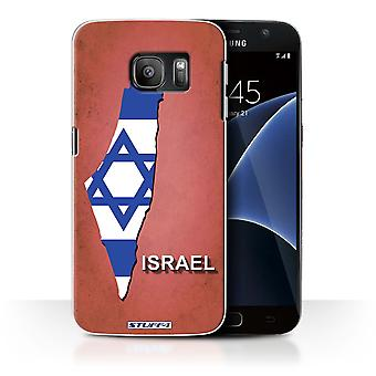 STUFF4 Case/Cover for Samsung Galaxy S7/G930/Israel/Israeli/Flag Nations